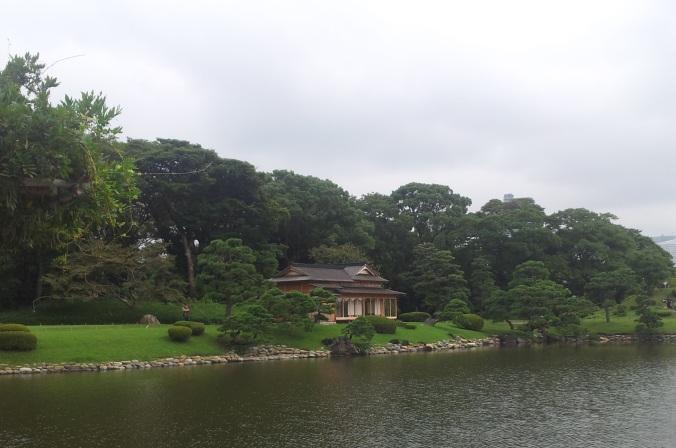 Casa del té en Hama Rikyu Onshi Teien