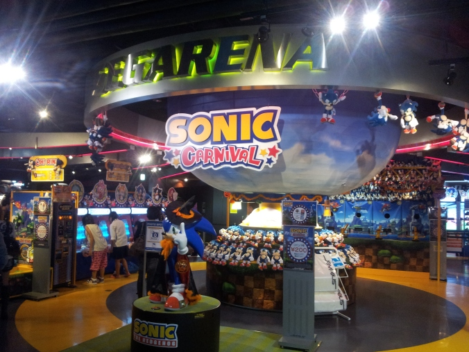 Sonic nos da la bienvenida (Joypolis)