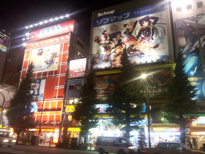 Akihabara de noche tiene un encanto especial