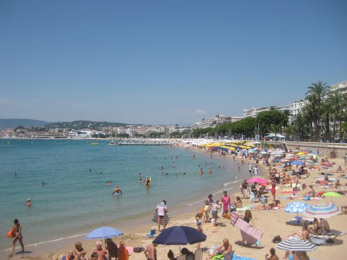 Vista de la playa de Cannes